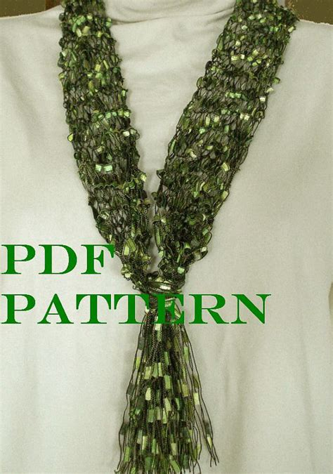 knit scarf pattern ladder yarn pattern for knit necklace scarf of ladder ribbon yarn with