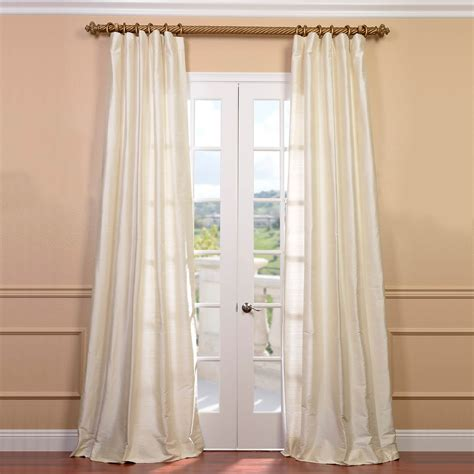 half off drapes half price drapes signature double layered off white sheer
