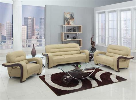 Beige Living Room Set 2 Pcs Beige Living Room Set