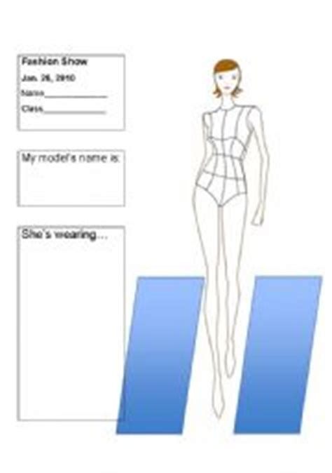 design clothes worksheet fashion show clothes description