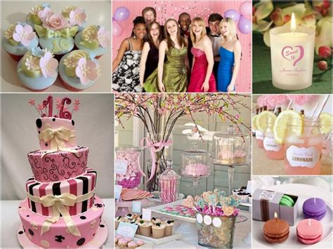 themes for girl sweet 16 birthday party ideas girl 16 image inspiration of cake