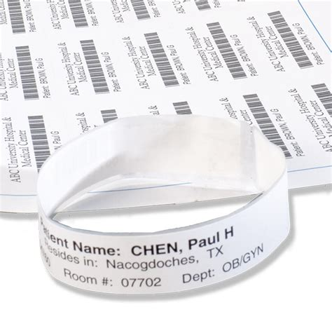 hospital band template hospital id bracelets by laserband id wristbands relyco