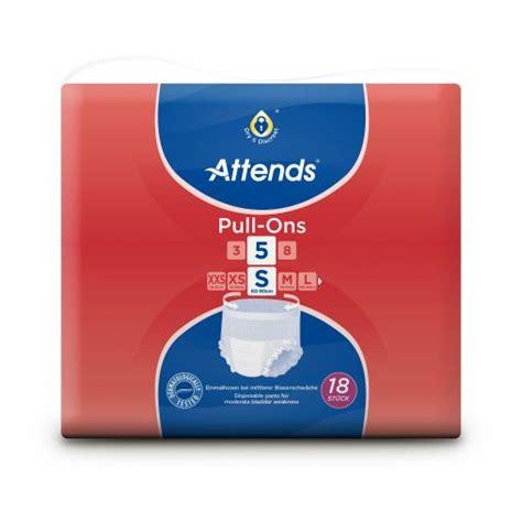 attends pull ons  small disposable    disposable incontinence pants