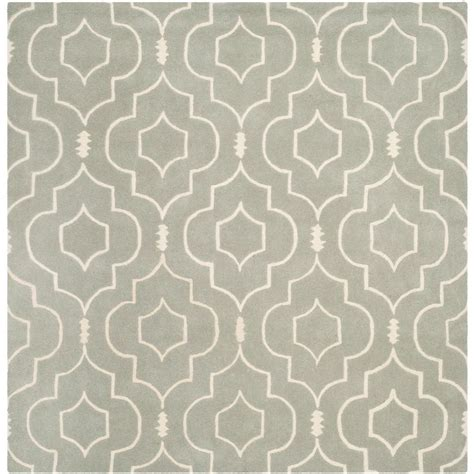 7 foot square rug safavieh chatham grey ivory 7 ft x 7 ft square area rug cht736e 7sq the home depot