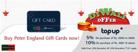 Peter England Gift Card - here s a great diwali offer on peter england gift cards woohoo gifting blog