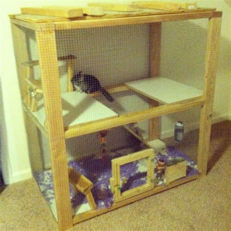 Handmade Cage - custom chinchilla cage chinchilla ideas