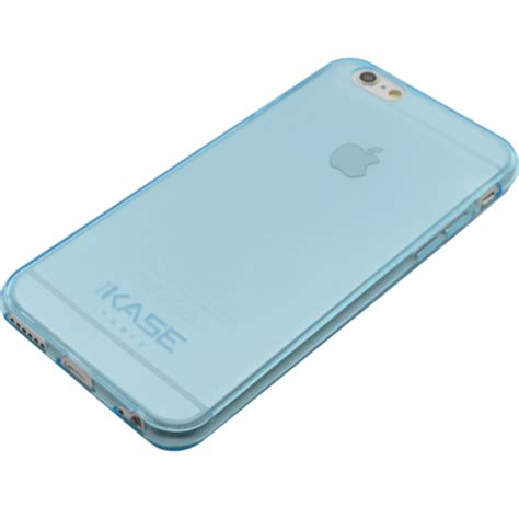 invisible ultra slim silicone for apple iphone 6 6s 0 6mm blue transparent the kase