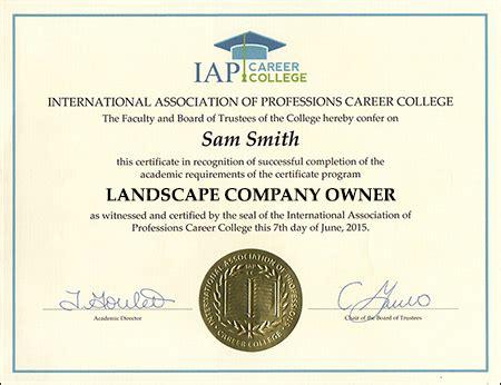 landscape design certificate programs online landscape company certificate course online
