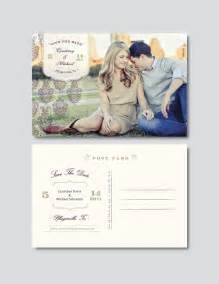 vintage save the date postcard template digital photoshop