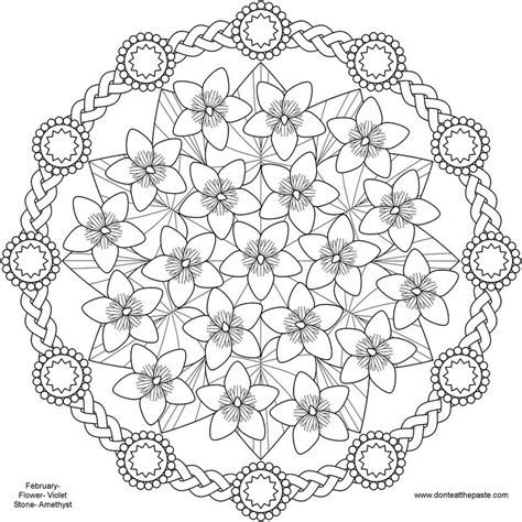 mandala coloring pages of flowers flower mandalas to print images
