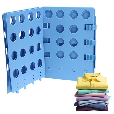 adjustable magic fast folder laundry clothes t shirts folding board blue for