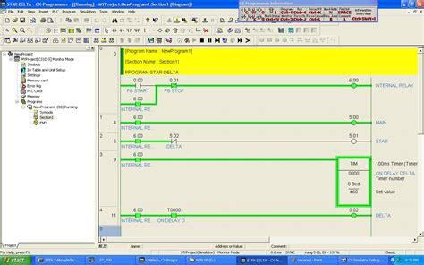 program rangkaian delta menggunakan plc omron plc