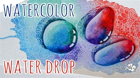 how to color water how to draw a water droplet watercolor drawing