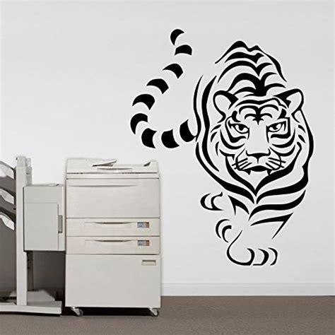 cute tiger leopard waterproof wall sticker home decor amazon com black tiger wall decal pvc home sticker house