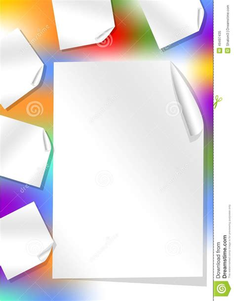 leaflet background with rainbow stain and rolled papers