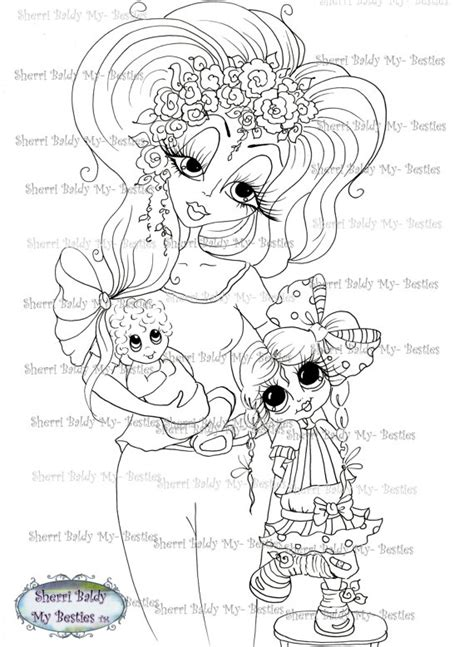 sherri baldy my besties adorable lil monsters coloring book 2 books instant digital digi sts my besties tm big eye big