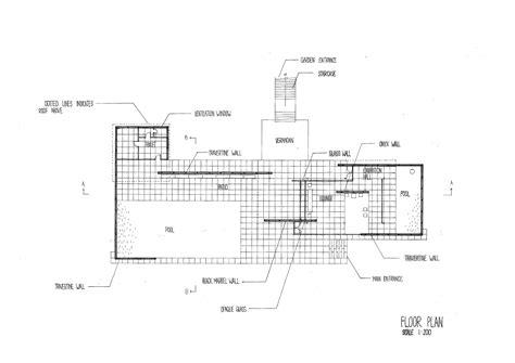 pavilion floor plan barcelona pavilion section plan