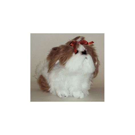 stuffed shih tzu choo choo shih tzu stuffed plush realistic lifelike lifesize animal display prop