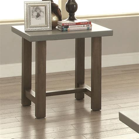 concrete top end table 70424 rectangle end table with concrete top quality