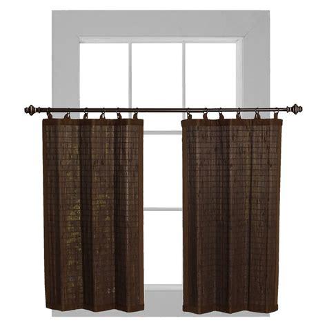 bamboo ring curtain versailles bamboo ring top curtain tier set