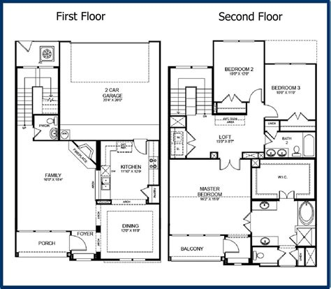 2 story floor plans the parkway luxury condominiums