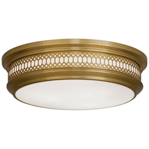 Robert Williamsburg Tucker Antique Brass Tucker 15 3 4 Quot Wide Antique Brass Ceiling Light 16f57 Ls Plus