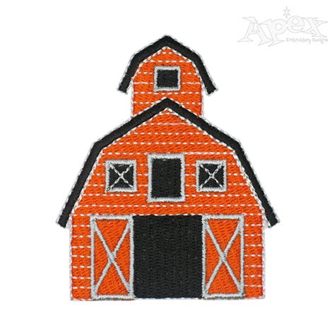 embroidery design house barn house embroidery design