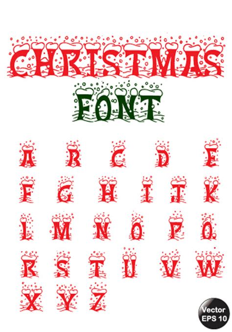eps format fonts christmas red snow fonts vector vector christmas free