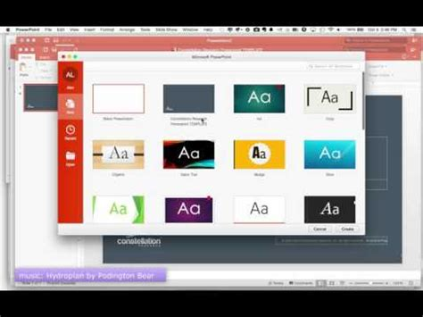 Installing A Custom Template In Powerpoint 2016 For Mac Youtube Powerpoint Custom Template