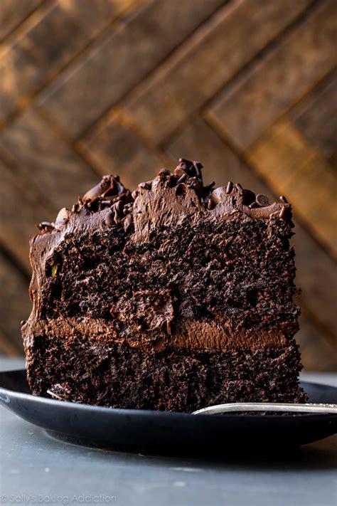 best chocolate frosting for cake chocolate zucchini cake sallys baking addiction