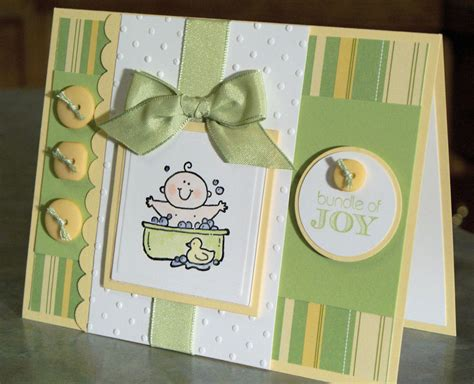 Handmade Baby Cards - handmade baby card stin up baby firsts bath time