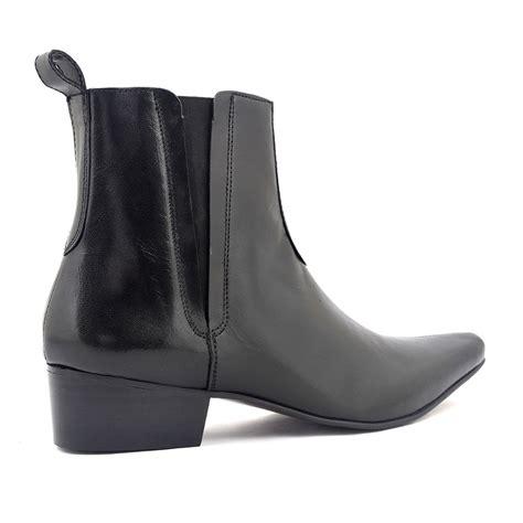 elvis black pointed heel chelsea boot gucinari
