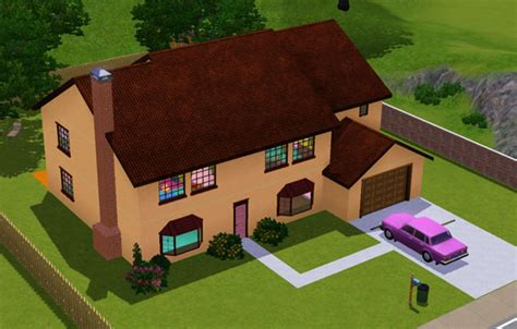 Garden House Plans by Sims 3 La Maison Des Simpson The Simpsons House Casa