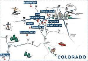 map of ski resorts colorado colorado ski areas winter for skiers