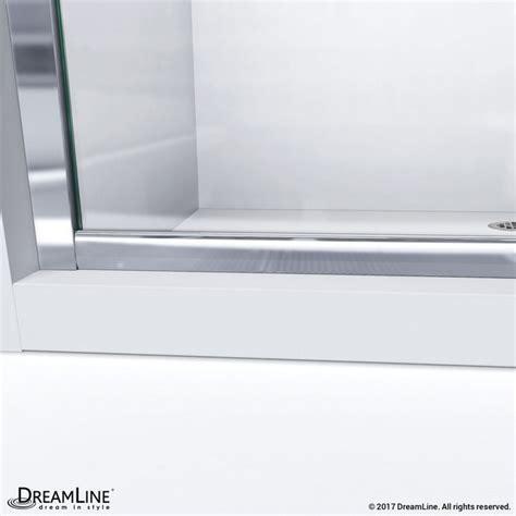 Shower Door Bottom Track Dreamline Shdr 0960580 Fr Infinity Z 56 60 Inch Frameless Sliding Tub Door Frosted Glass