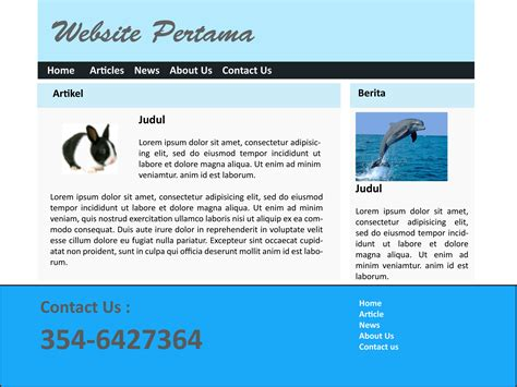 jenis layout halaman web bangun web anda 1 persiapkan rancangan laman utama