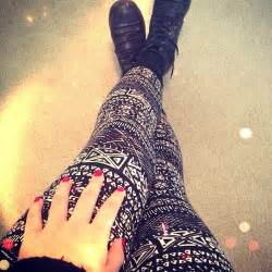 Patterned leggings on tumblr