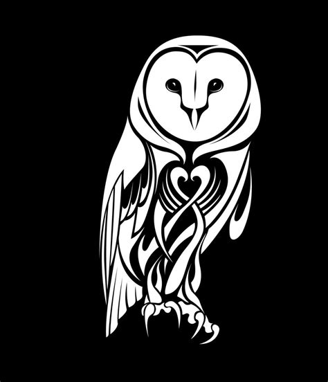 tribal owl tattoos designs tribal barn owl by coyotehills on deviantart