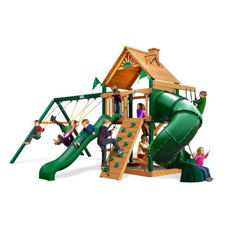 swing and playsets shop gorilla playsets mountaineer residential wood playset