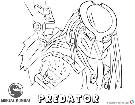 predator coloring pages mortal kombat x coloring pages predator free printable