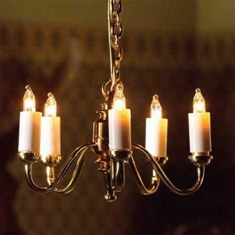 ceiling candle lights the dolls house emporium five arm candle ceiling light
