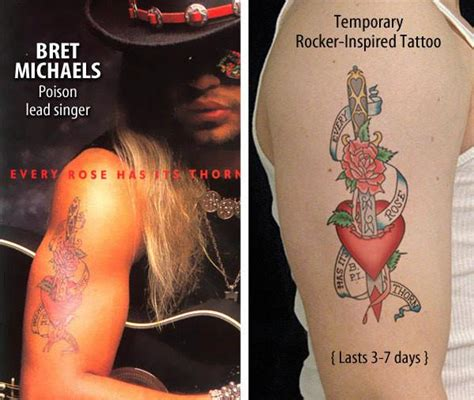 tattoo pens michaels bret michaels inspired temporary tattoos online store