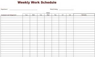 Free Printable Work Schedule Template 8 Best Images Of Printable Weekly Work Schedule Blank