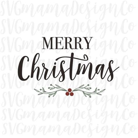 merry christmas svg rustic sign decor vinyl cut file  etsy