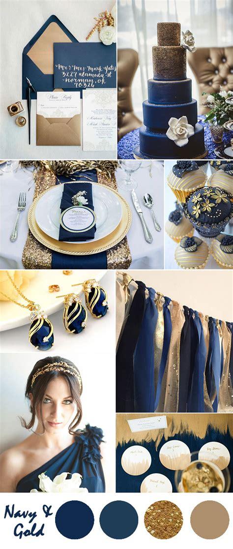 ten  gorgeous navy blue wedding color palette ideas