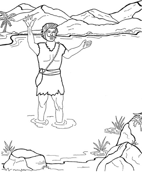 printable coloring pages john the baptist john the baptist coloring page coloring home
