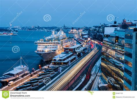 porto di stoccolma porto traghetto di crociera di stoccolma svezia
