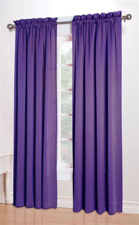 Purple Curtains Kylee Room Darkening Curtains Purple Lichtenberg Window