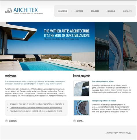 templates for architecture website architecture website template 24475