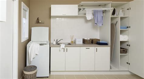storage solutions for small kitchen laundry in kitchen